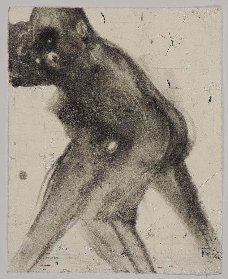 """רותי הלביץ כהן, F.F.F., Fight. Flight. Freeze (2015), חומצה חיה, גובה 24 ס""""מ, רוחב 20.5 ס""""מ"""