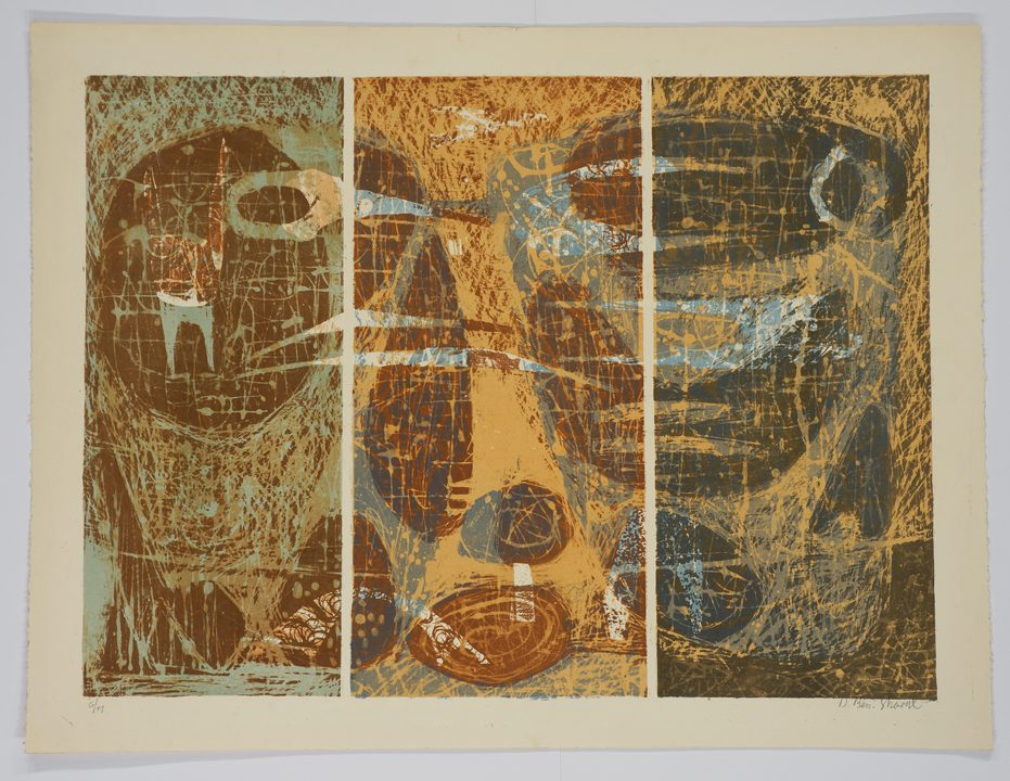 David Ben-Shaul, Untitled (1961-1962), Lithography, 50.8 x 67.3; Gift of the Artist