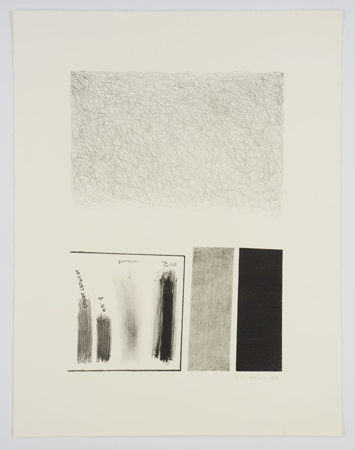 Alima, Untitled (1972), Lithography, 65.5 x 55 cm, peinted at Burston Grphic Center, Jerusalem; Gift of the artist