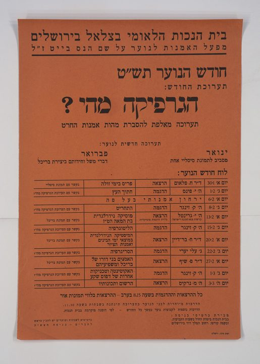 What is Graphics? (1949), poster for The 1949 Youth Month, the Bezalel National Museum