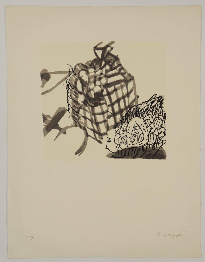 Itzhak Danziger, Mounds and Snakes (1976), screenprint, 65 x 50 cm; Publisher: Burston Grphic Center
