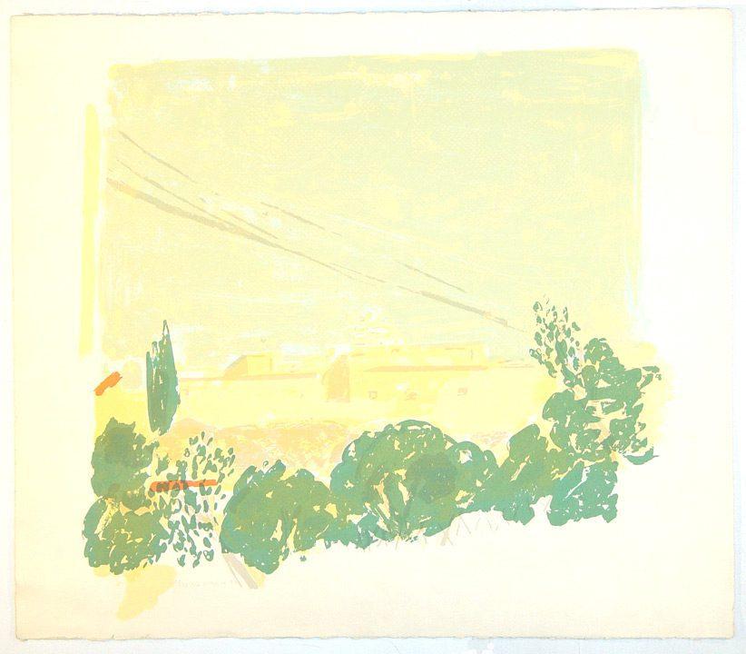 """ללא כותרת (1982), הדפס-רשת, גובה 56.5 ס""""מ, רוחב 66 ס""""מ, מהדורה: 22"""