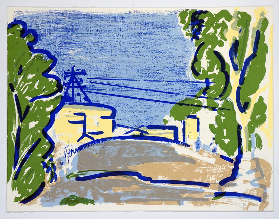 """נוף (1989), הדפס-רשת, גובה 56 ס""""מ, רוחב 70 ס""""מ, מהדורה: 105"""