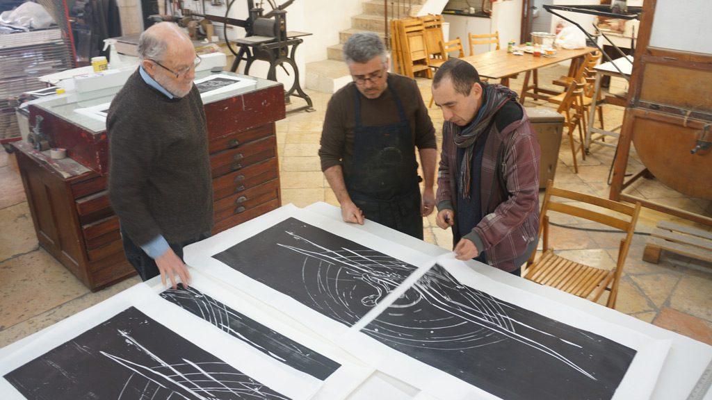 אלכס קרמר עם רן סגל ואריק קילמניק (2017)