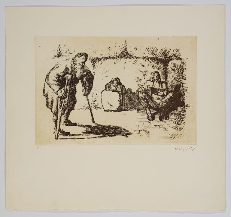 Nachum Gutman, Untitled, etching, 35 x 37.5 cm; (plate created in the 1920s and reprinted at the Jerusalem Printing Workshop (ca. 1979)