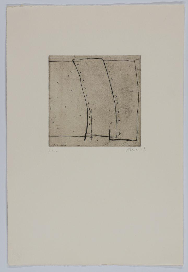 Yehiel Shemi, Untitled (1984), etching, 56.5 x 38 cm