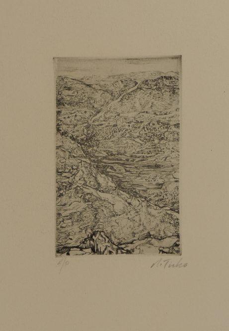 Anna Ticho, Untitled (1975), etching, 37.5 x 35 cm