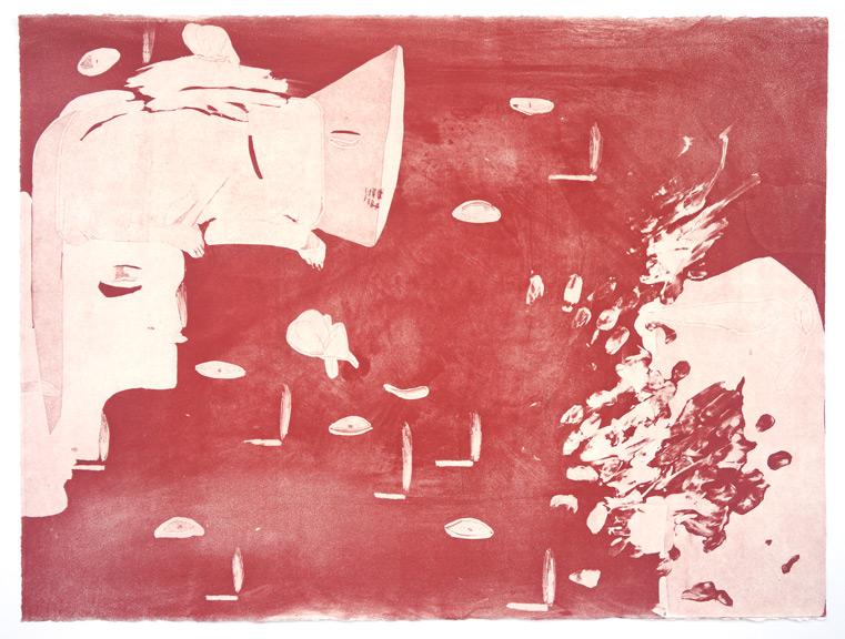 """שחר יהלום, כבדים כהים (2020), תחריט, גובה 56 ס""""מ, רוחב 76 ס""""מ"""