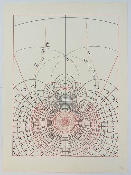 כרם נאטור, הסדרה האדומה, (2020),  הדפס רשת كرم ناطور، السلسلة الحمراء، 2020، مطبوعة