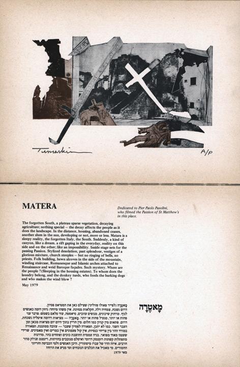 Tumarkin: Etching, Photos & Drawings, Massada, 1980