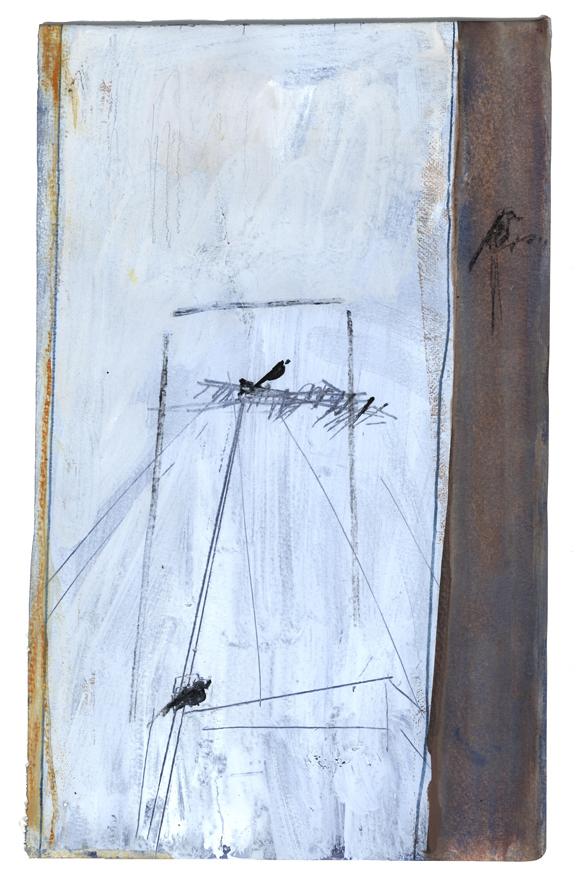 """ללא כותרת (2021), טמפרה ופייר נואר על נייר, גובה 40.5 ס""""מ, רוחב 25 ס""""מ"""